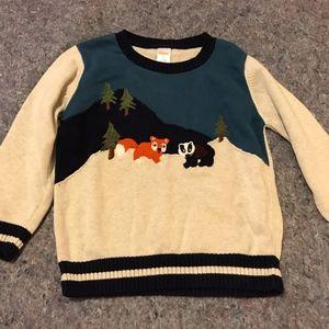 Boy's Size 5T Gymboree Animal Sweater
